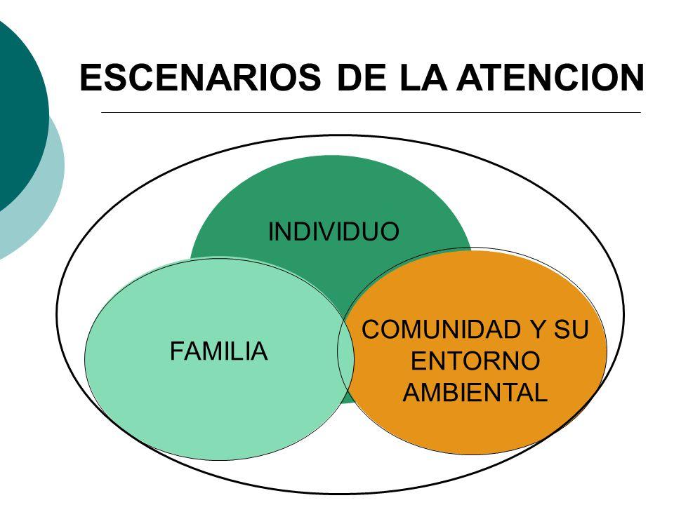 ESCENARIOS DE LA ATENCION