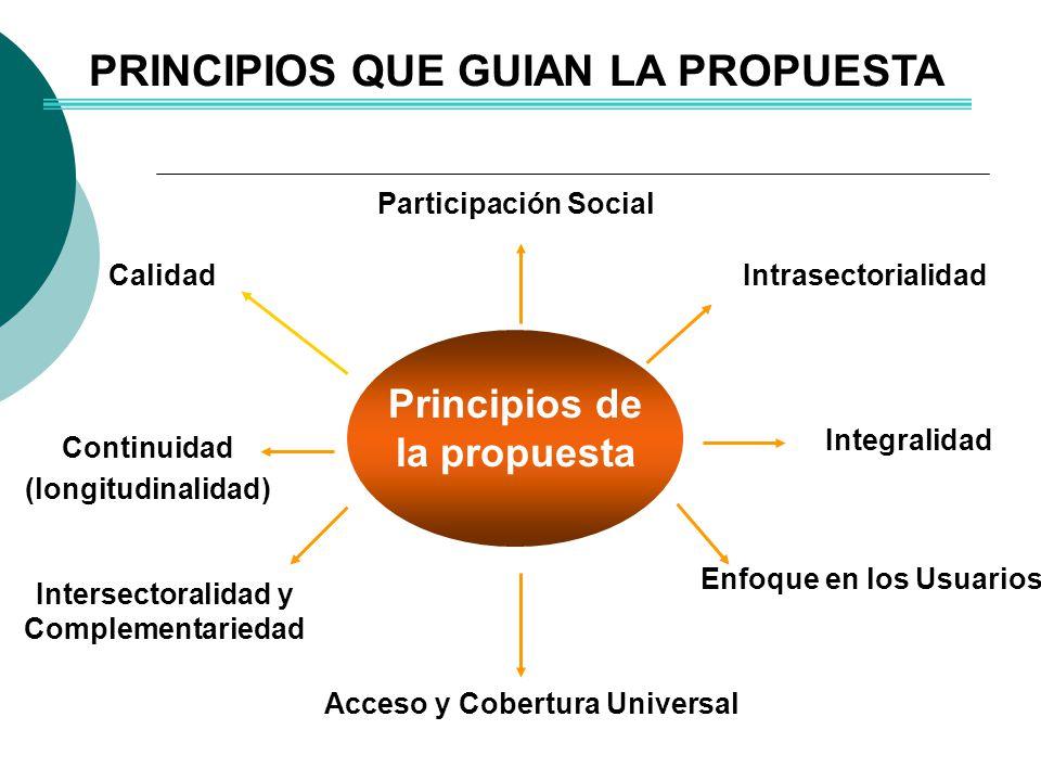 PRINCIPIOS QUE GUIAN LA PROPUESTA