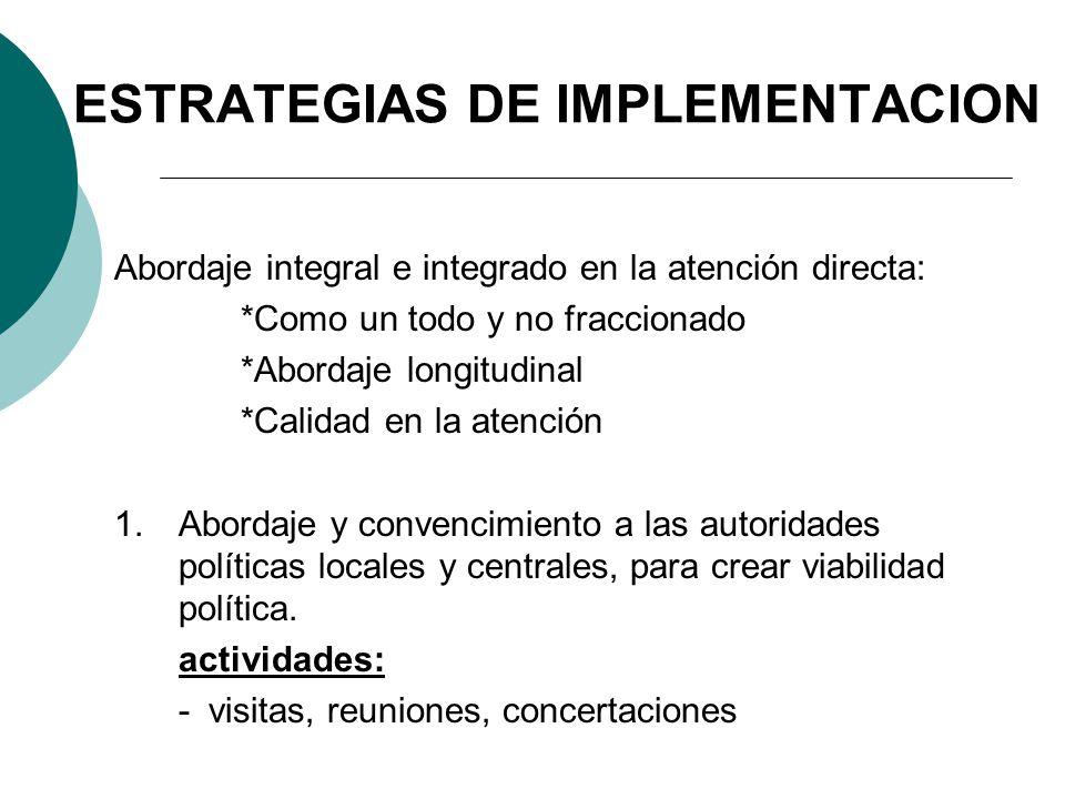 ESTRATEGIAS DE IMPLEMENTACION
