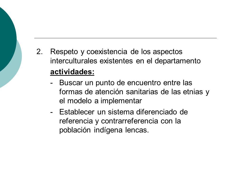 Respeto y coexistencia de los aspectos interculturales existentes en el departamento
