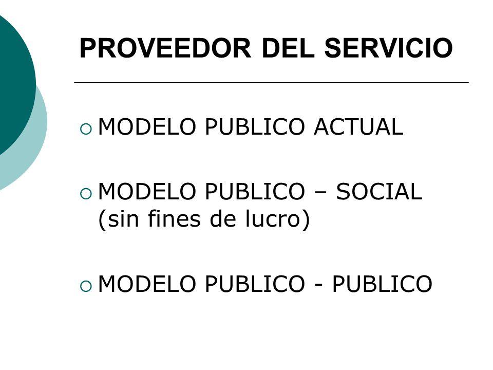 PROVEEDOR DEL SERVICIO