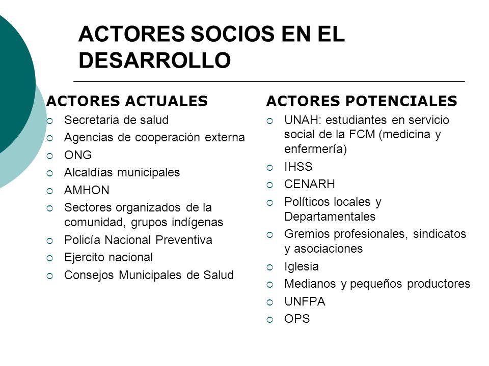 ACTORES SOCIOS EN EL DESARROLLO