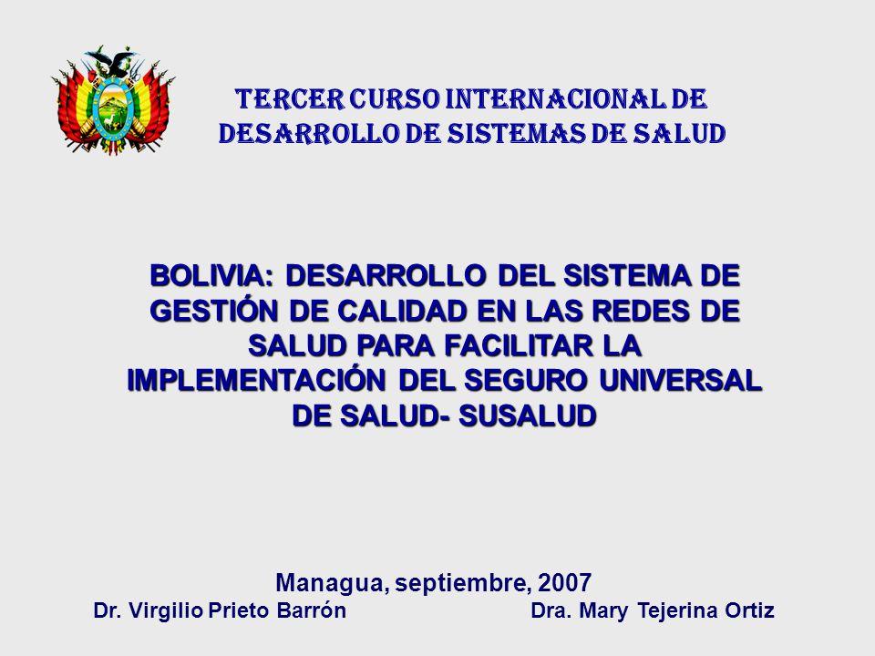 TERCER CURSO INTERNACIONAL DE DESARROLLO DE SISTEMAS DE SALUD