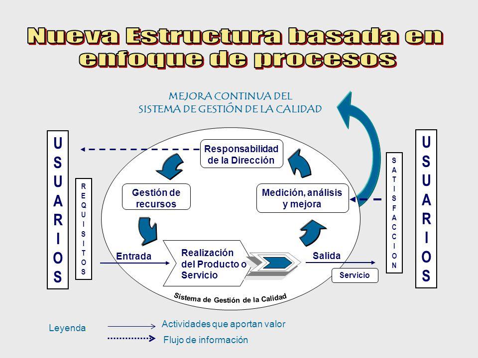 Nueva Estructura basada en enfoque de procesos