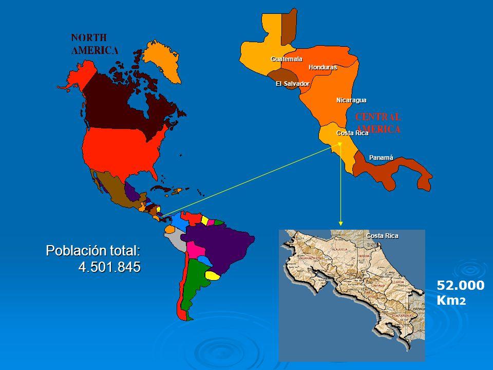 Población total: 4.501.845 52.000 Km2 Guatemala Honduras El Salvador