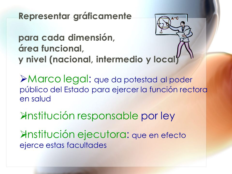Institución responsable por ley