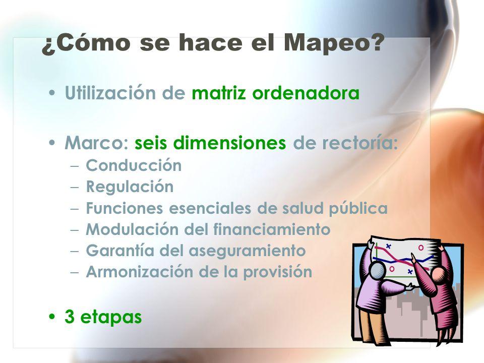 ¿Cómo se hace el Mapeo Utilización de matriz ordenadora