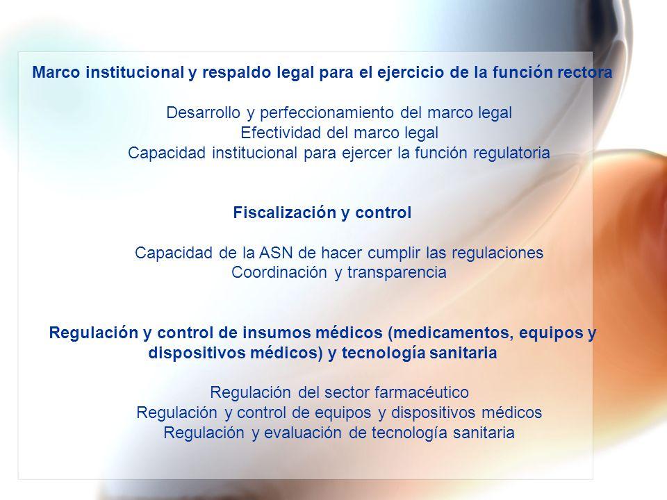 Desarrollo y perfeccionamiento del marco legal