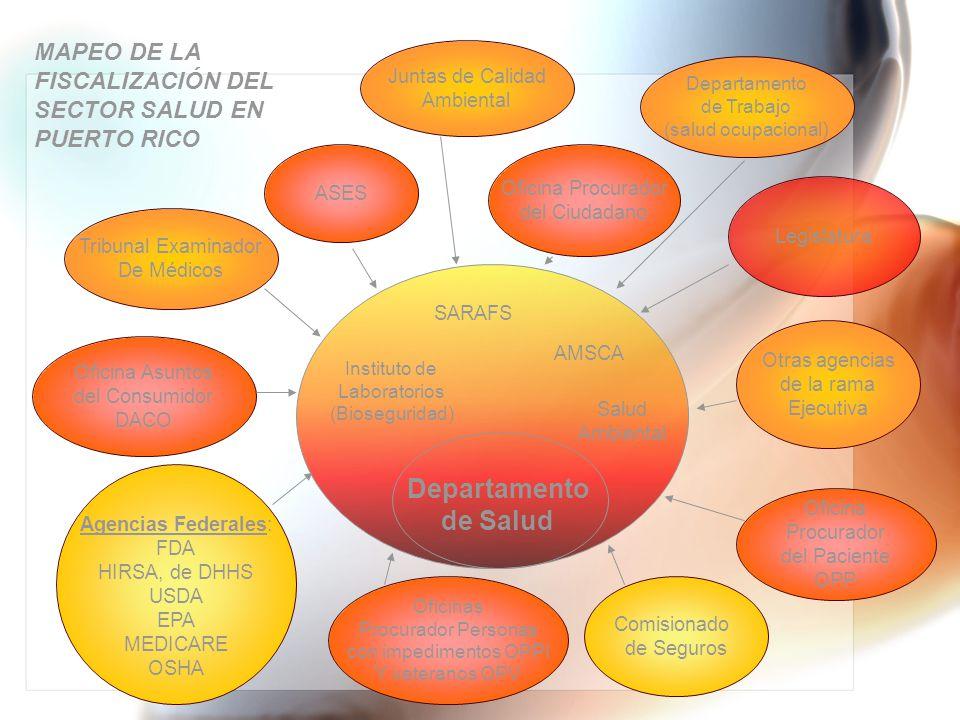 Departamento de Salud MAPEO DE LA FISCALIZACIÓN DEL SECTOR SALUD EN