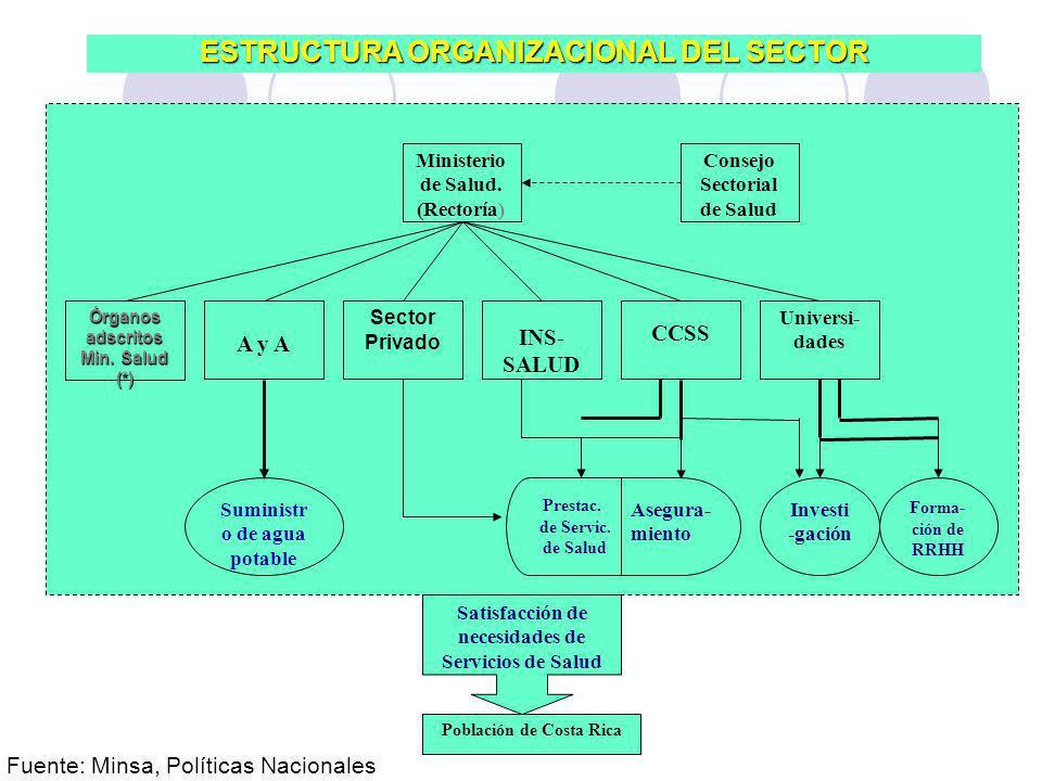 ESTRUCTURA ORGANIZACIONAL DEL SECTOR