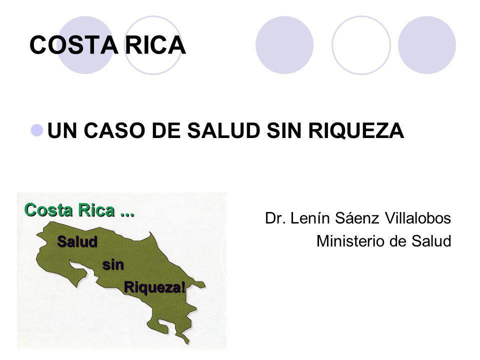COSTA RICA UN CASO DE SALUD SIN RIQUEZA Dr. Lenín Sáenz Villalobos