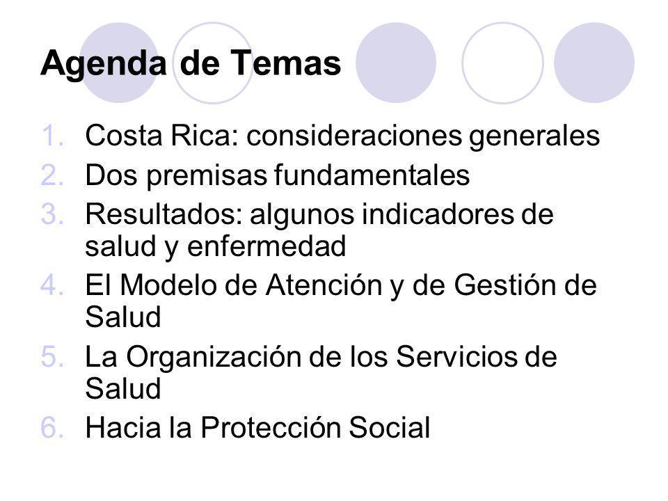 Agenda de Temas Costa Rica: consideraciones generales