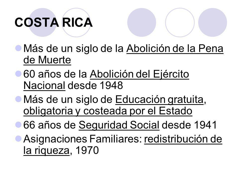 COSTA RICA Más de un siglo de la Abolición de la Pena de Muerte