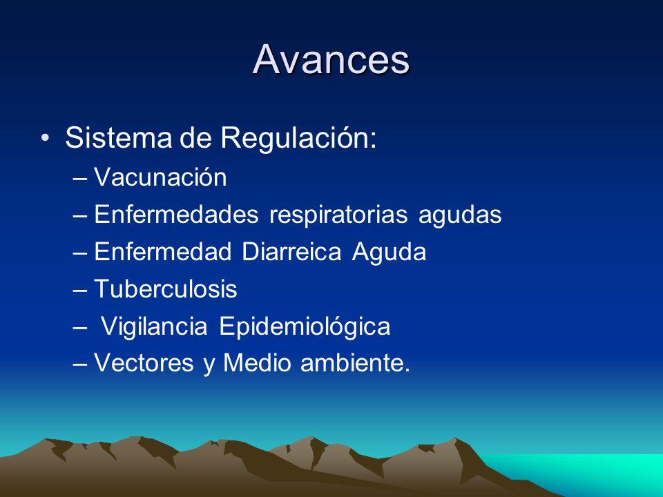 Avances Sistema de Regulación: Vacunación