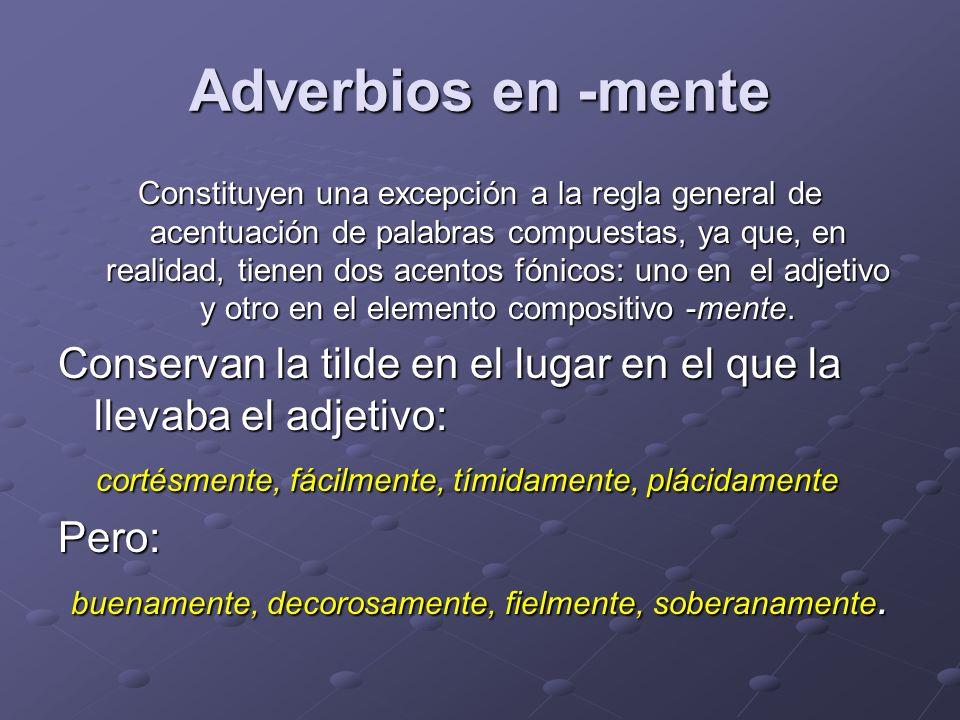 Adverbios en -mente
