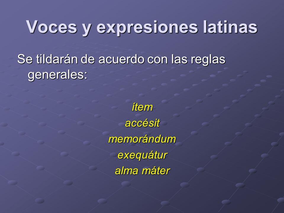 Voces y expresiones latinas