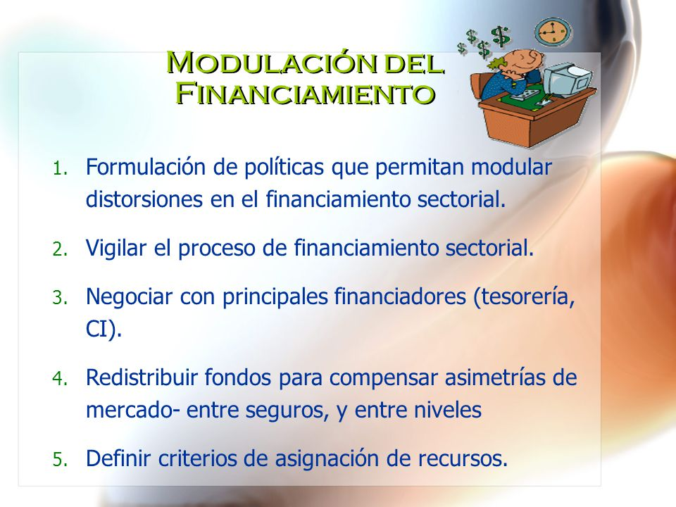 Modulación del Financiamiento