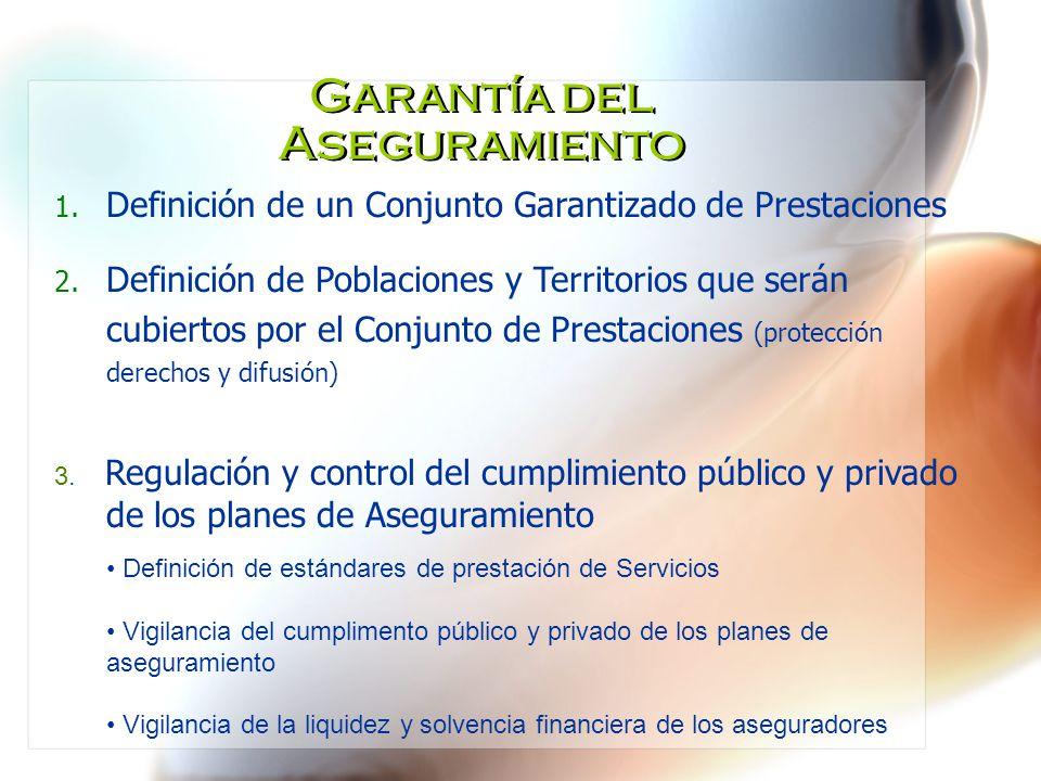 Garantía del Aseguramiento