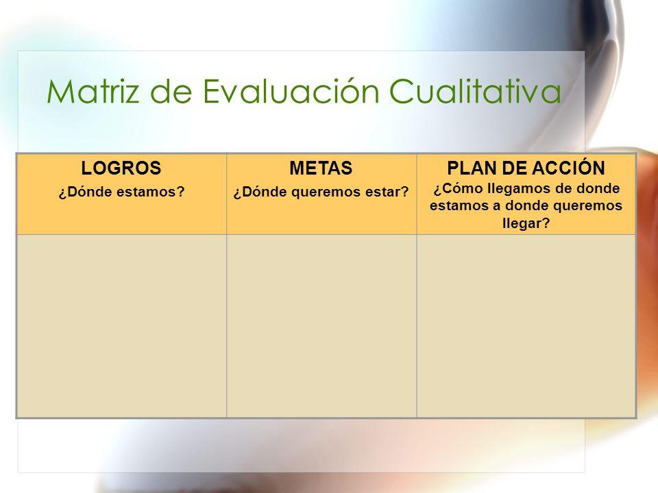 Matriz de Evaluación Cualitativa