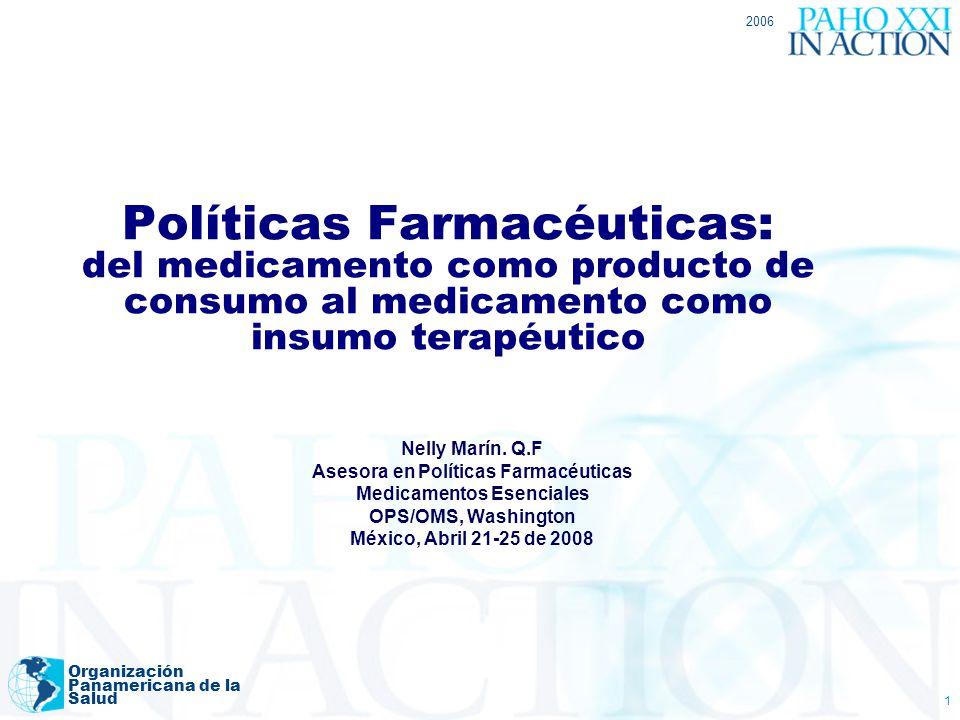 Asesora en Políticas Farmacéuticas Medicamentos Esenciales