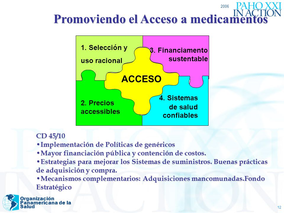 Promoviendo el Acceso a medicamentos