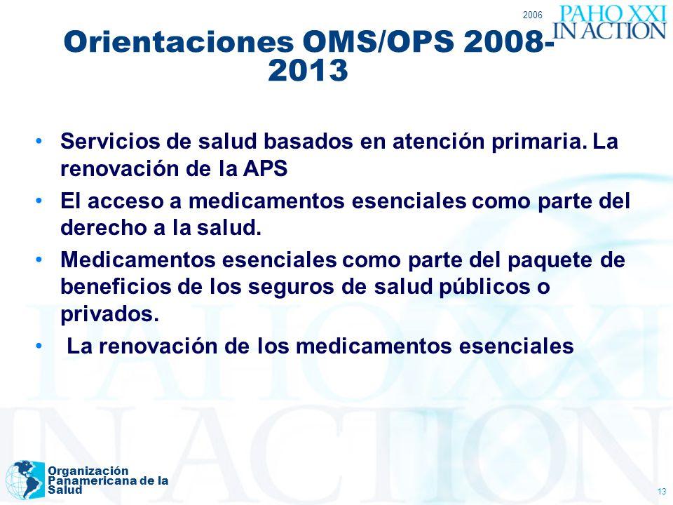 Orientaciones OMS/OPS 2008-2013