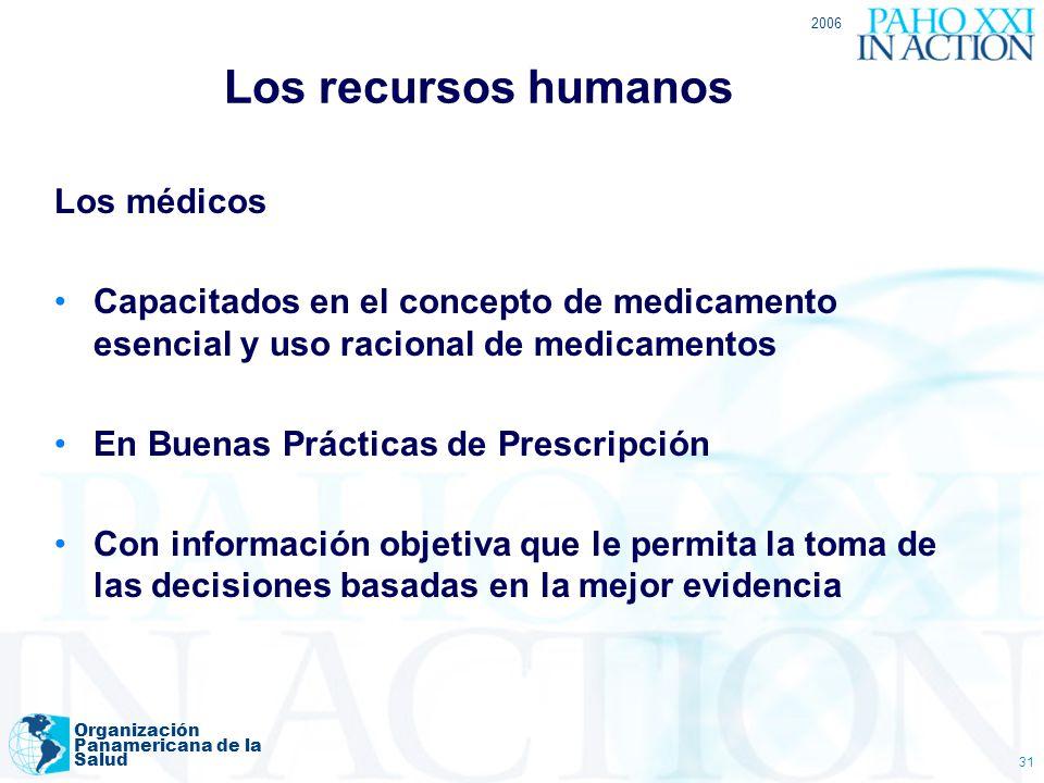 Los recursos humanos Los médicos