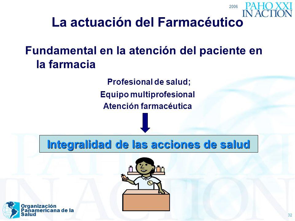 La actuación del Farmacéutico