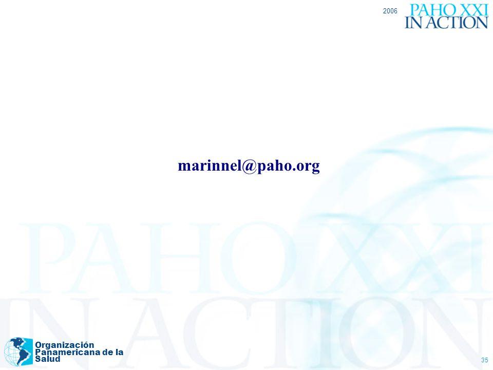 2006 marinnel@paho.org Organización Panamericana de la Salud