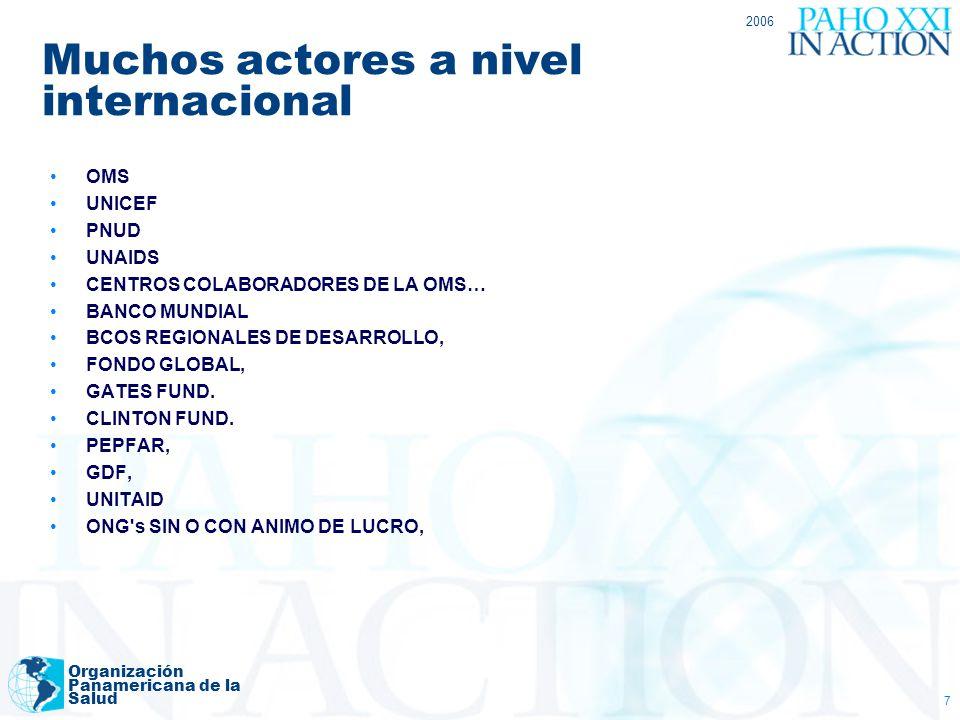 Muchos actores a nivel internacional