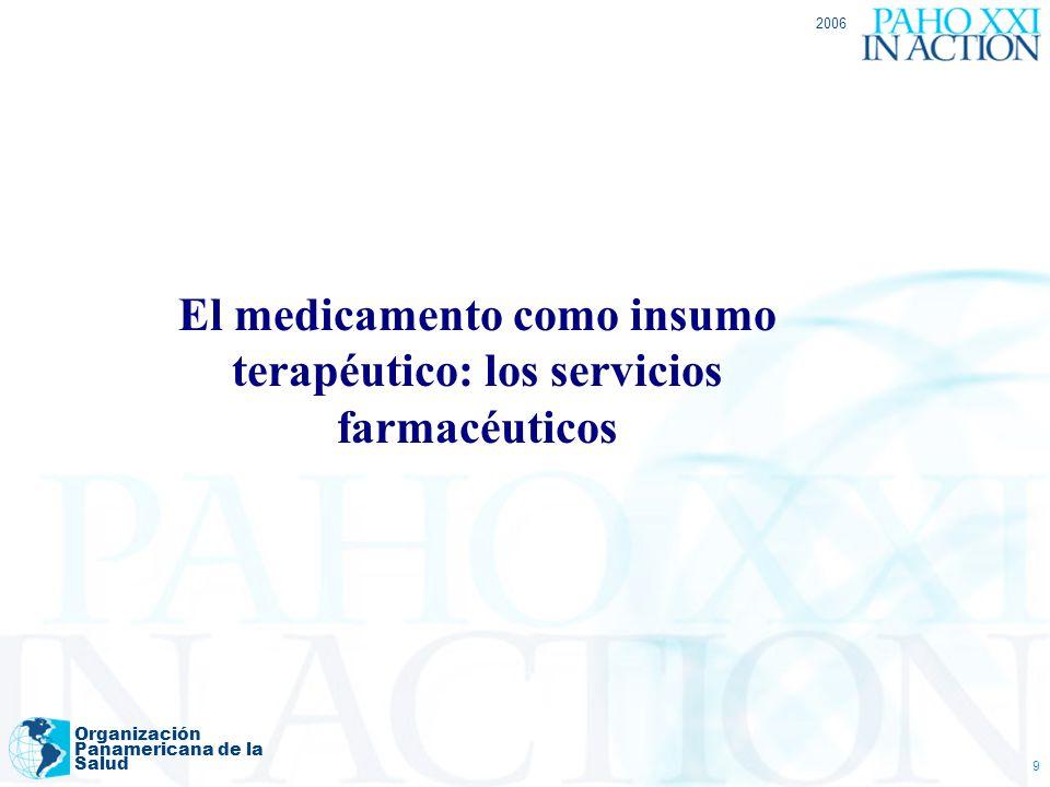 El medicamento como insumo terapéutico: los servicios farmacéuticos