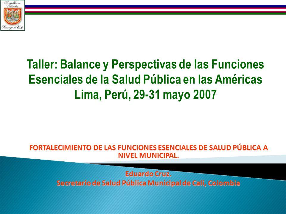 Secretario de Salud Pública Municipal de Cali, Colombia