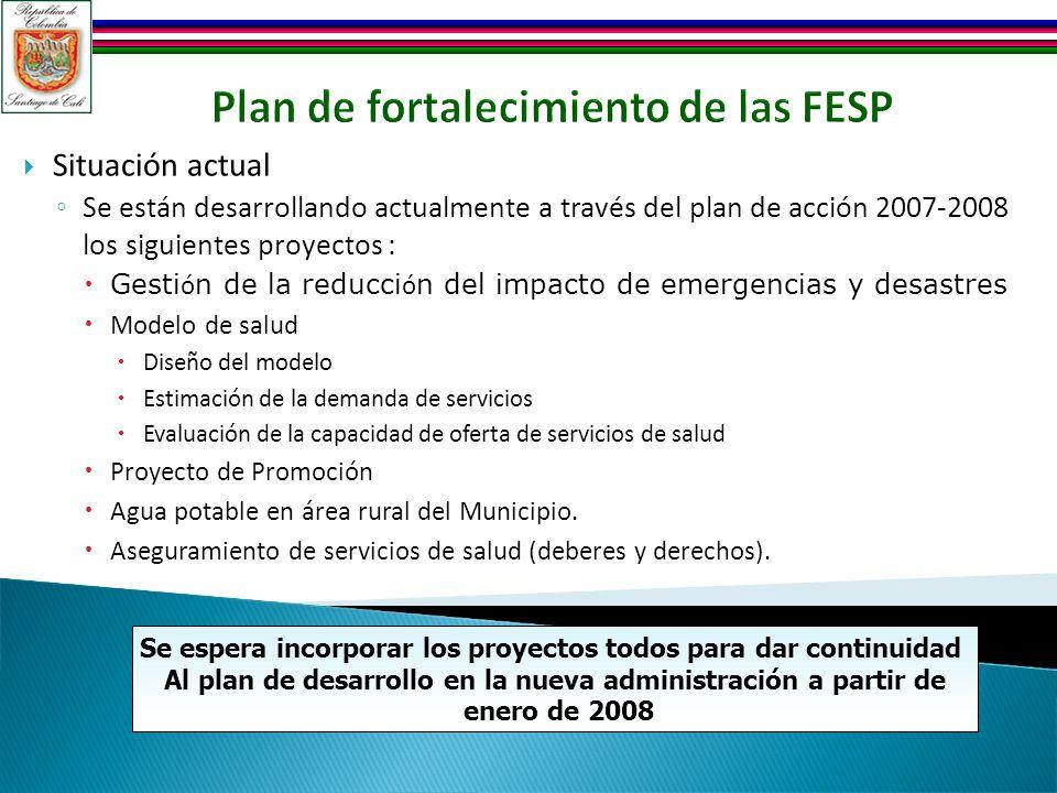 Plan de fortalecimiento de las FESP