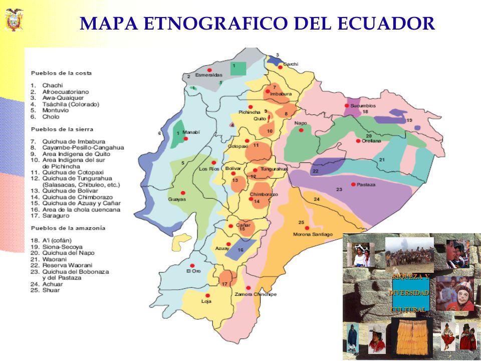 MAPA ETNOGRAFICO DEL ECUADOR