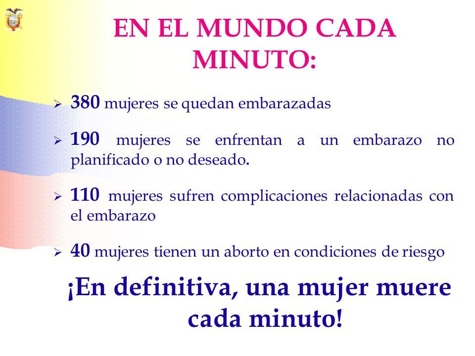 EN EL MUNDO CADA MINUTO: