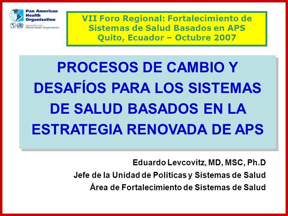 VII Foro Regional: Fortalecimiento de Sistemas de Salud Basados en APS