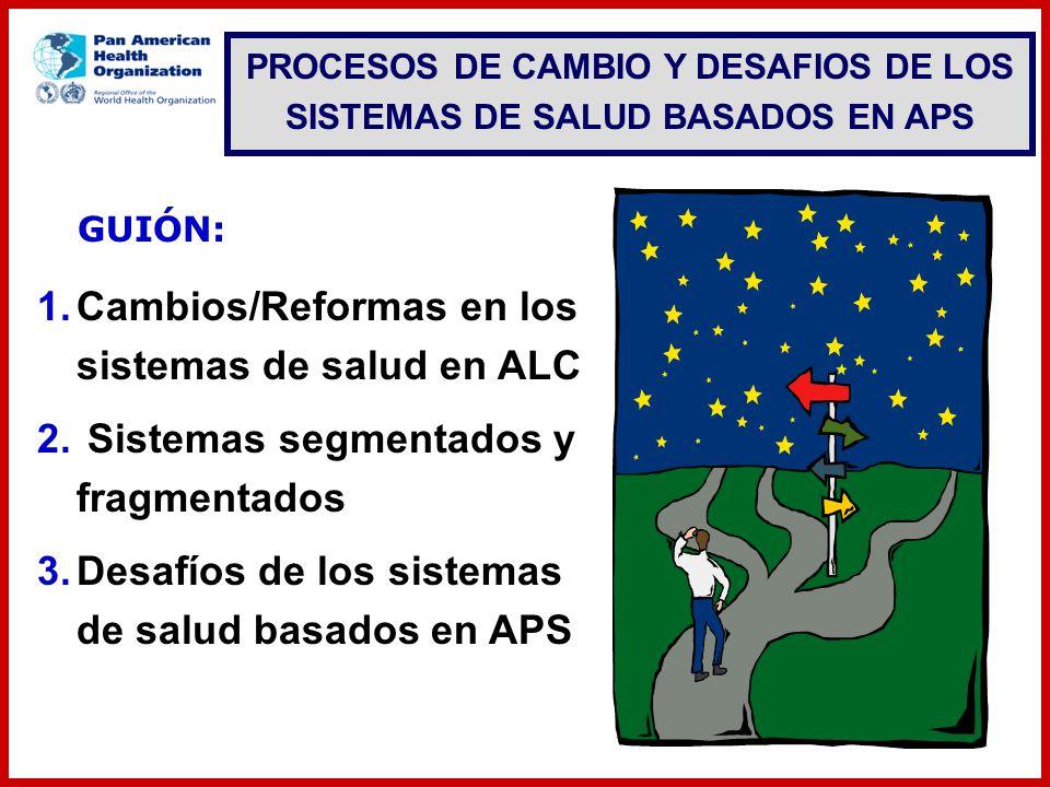 PROCESOS DE CAMBIO Y DESAFIOS DE LOS SISTEMAS DE SALUD BASADOS EN APS