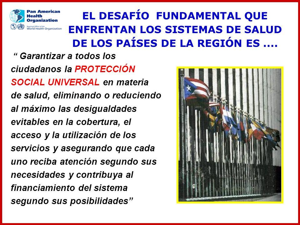 EL DESAFÍO FUNDAMENTAL QUE ENFRENTAN LOS SISTEMAS DE SALUD DE LOS PAÍSES DE LA REGIÓN ES ....