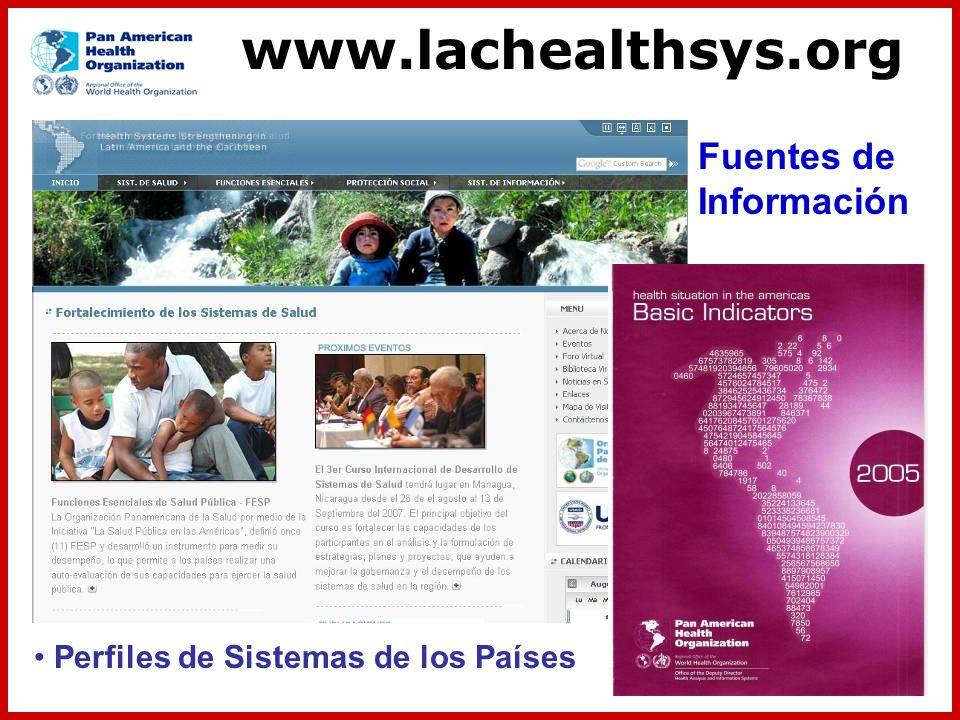 www.lachealthsys.org Fuentes de Información
