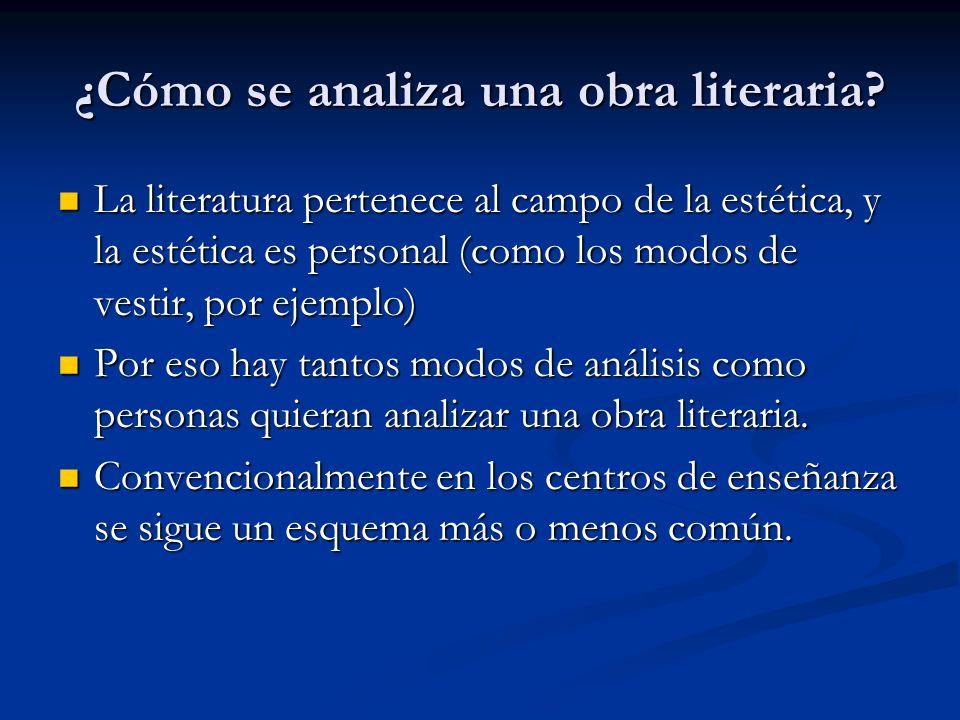 ¿Cómo se analiza una obra literaria