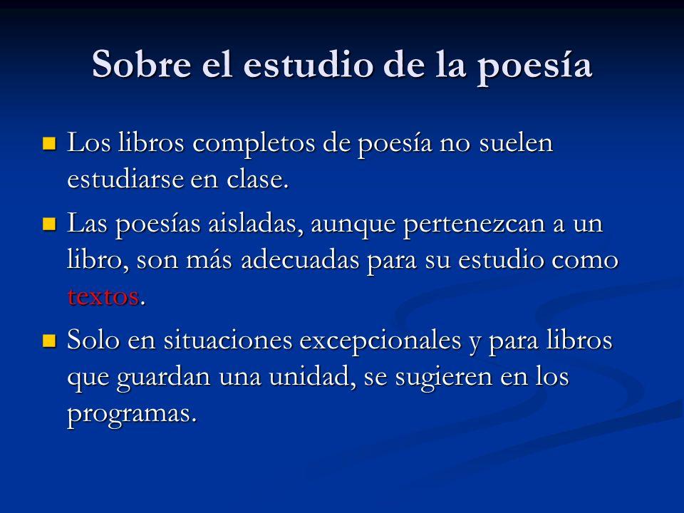 Sobre el estudio de la poesía