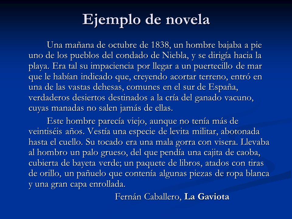 Ejemplo de novela