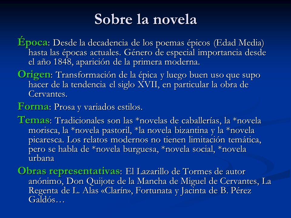 Sobre la novela