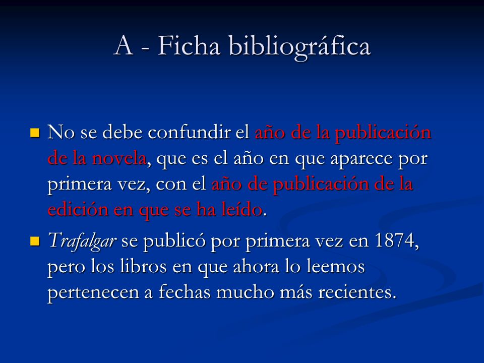 A - Ficha bibliográfica