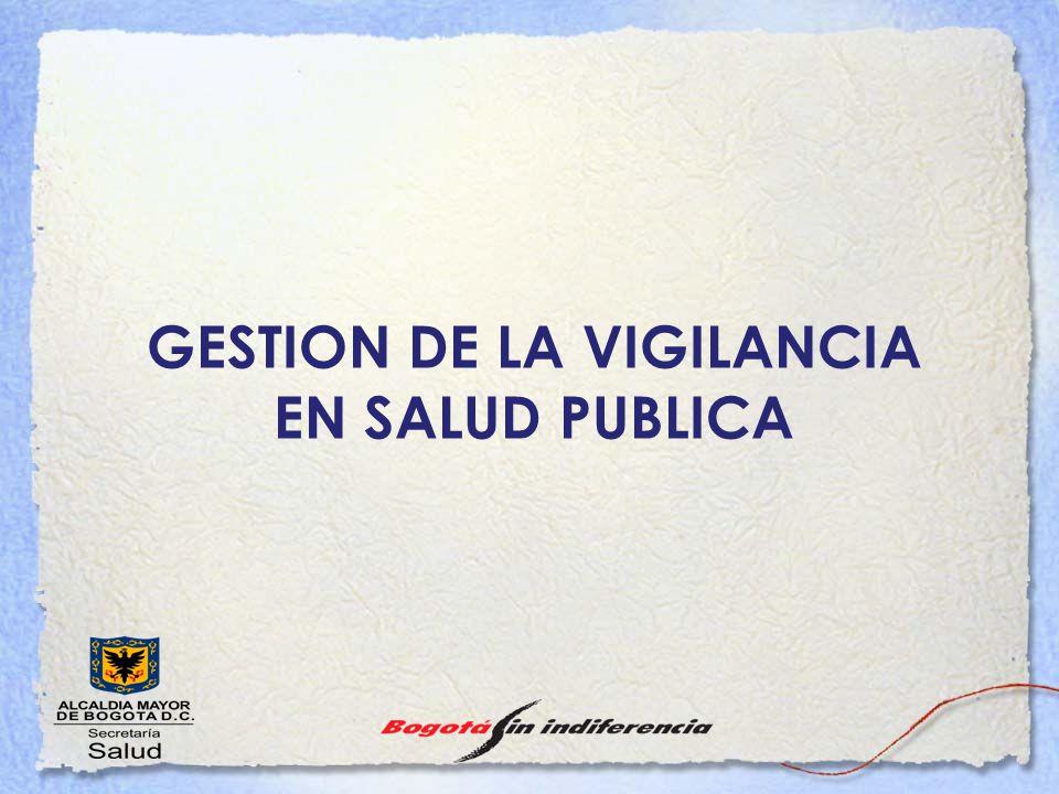 GESTION DE LA VIGILANCIA EN SALUD PUBLICA