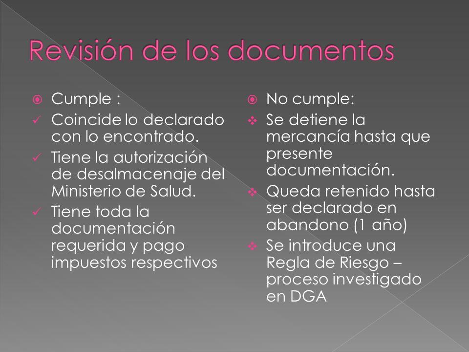 Revisión de los documentos