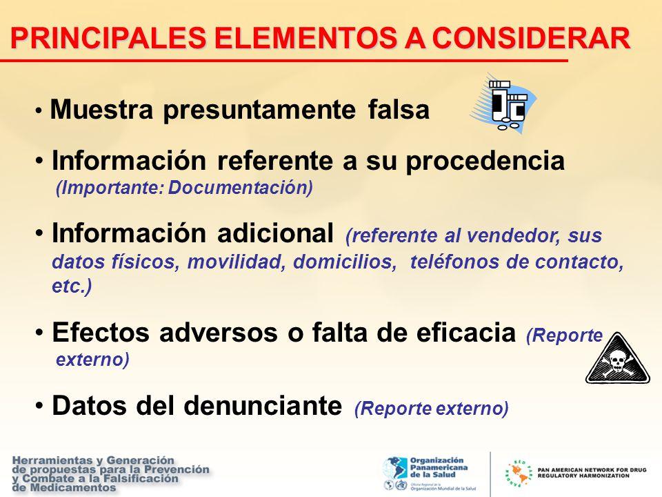 PRINCIPALES ELEMENTOS A CONSIDERAR