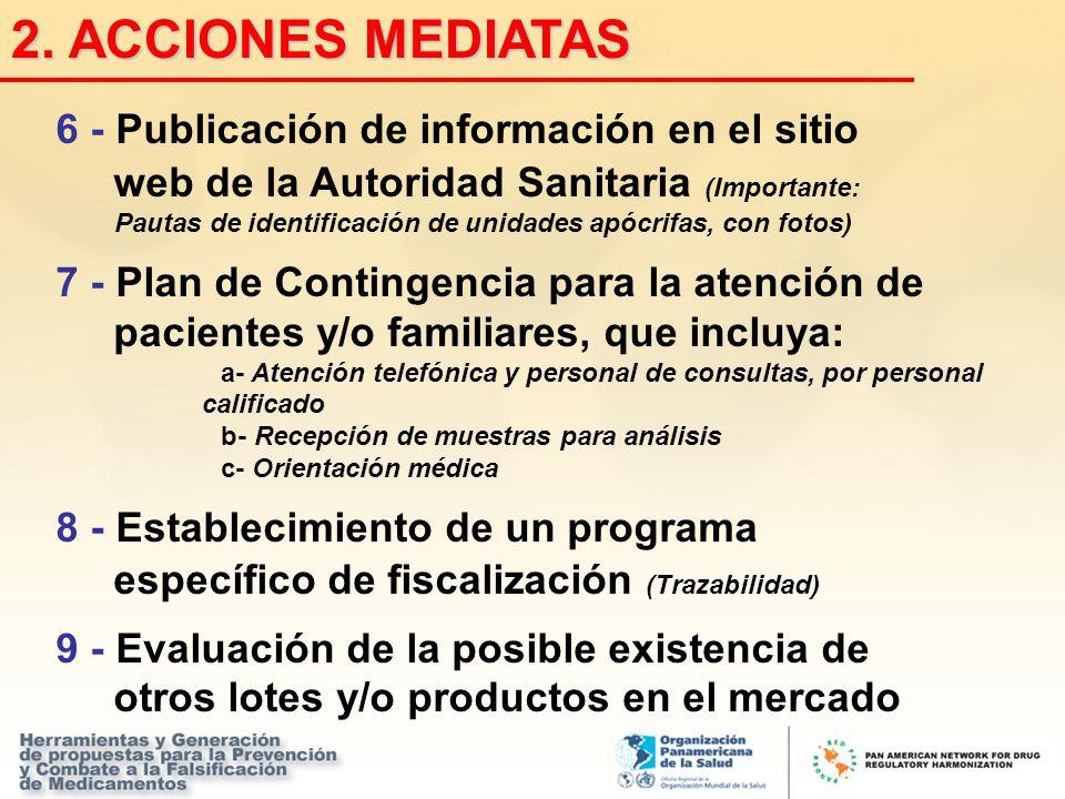2. ACCIONES MEDIATAS 6 - Publicación de información en el sitio