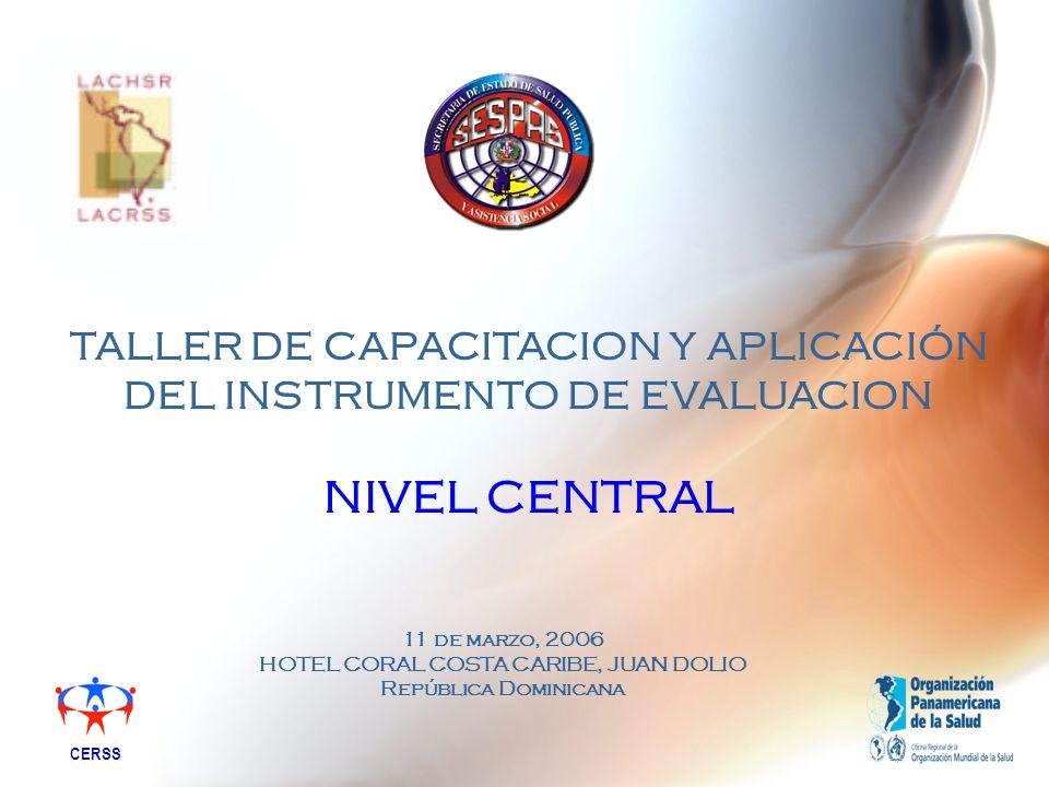 TALLER DE CAPACITACION Y APLICACIÓN DEL INSTRUMENTO DE EVALUACION