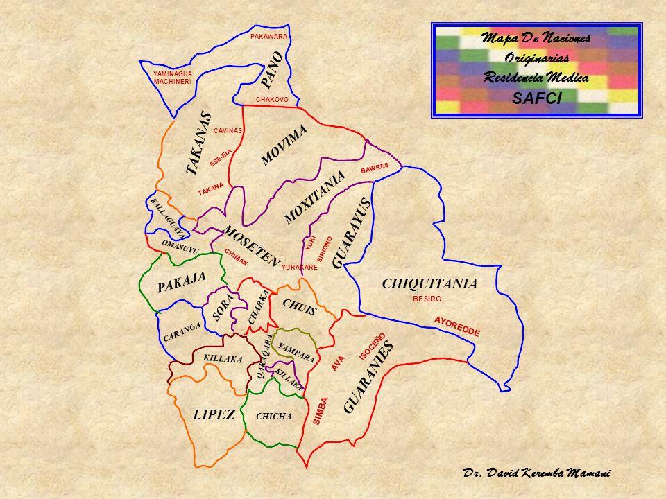 Mapa De Naciones Originarias Residencia Medica SAFCI PANO TAKANAS